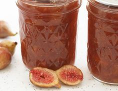 Fig Honey Cardamom Jam. 4c figs, 1/2c honey, 1/2c brown sugar, 3/4 to 1tsp ground cardamon, lemon juice