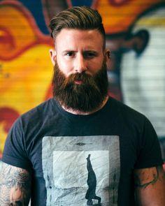 beards carefully curated — Marcus. His hair, eyebrows, moustache and beard.