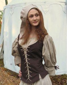 Mittelalter leder mieder mit stickereien mode for Versandhandel mode