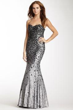 Sequin Beaded Mermaid Gown