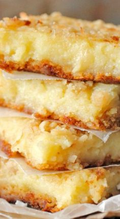 Lemon Coconut Gooey Bars ...... I must not look at food, I must not look at food, I must not ....