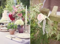 Vintage wedding garden party theme
