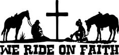 Praying Cowboy Cowgirl Cross Horse Christ Car Truck Window Vinyl Decal Sticker #Oracal