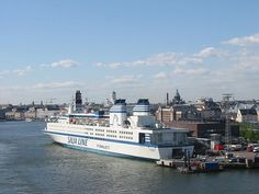 Silja Line Helsinki Helsinki, Gas Turbine, Historical Society, San Francisco Skyline, Places Ive Been, Seaside, New York Skyline, Sailing, Cruise Ships
