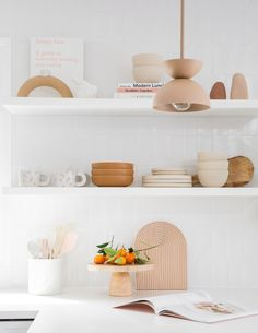 The open shelves in the Summer House kitchen make me happy - Hoping they make you smile too!  I love open shelving in a kitchen and…