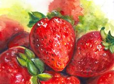 I love red but somehow I never get to paint red. So yesterday I painted these strawberries that are very red. I used all the reds I had on my palette and I also mixed the ones I didn't have. So here they are very ripe and red strawberries! . . . #tummyrubbstudio #artclass #gouacheandwatercolor #paintingoftheday #sketch #howtopaintgouache #gouachepainting #watercolor #gouache #watercolorandgouache #watercolorpainting #stilllifepainting #strawberries #howtopaintwatercolor #howtopaintfood #strawbe Gouache Painting, Watercolor Paintings, Figure Sketching, Art School, Strawberries, Palette, Studio, Red, Strawberry Fruit