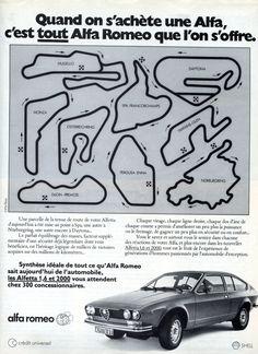 Publicité Alfa Romeo Alfetta GT (1976)