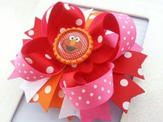 Elmo inspired hair bow!! Your little Elmo fan will love it just as much as you! She will look absolutely ADORABLE!! Perfect for a Elmo themed