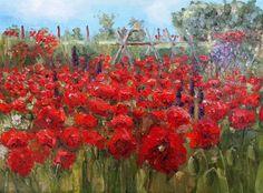 Poppies Garden  original Dutch oil painting by NancyvandenBoom, €250.00
