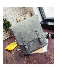 nubuck PU leather women square cover backpack Korean style female school vintage high quality  backpack Travel Backpack Travel Backpack, Fashion Backpack, High Quality Backpacks, School Backpacks, Korean Style, Luggage Bags, Pu Leather, Korean Fashion, Messenger Bag