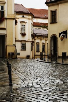 Enchanting ancient architecture building city europe grunge old pavement stone street town urban vintage brno czech republic Architecture Design, Ancient Architecture, Beautiful Architecture, Great Buildings And Structures, City Buildings, Beautiful Homes, Beautiful Places, Voyage Europe, Czech Republic