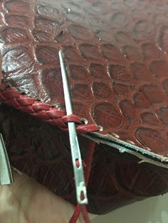 Sewing Leather, Leather And Lace, Leather Craft, Leather Bag, Leather Holster, Leather Tooling, Skull Design, Holsters, Leather Projects