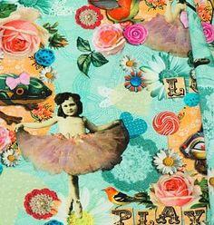 Katoen Poplin, Love and Fun Digital Print