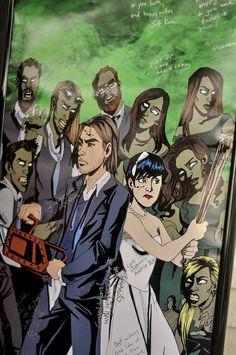 Zombie wedding portrait