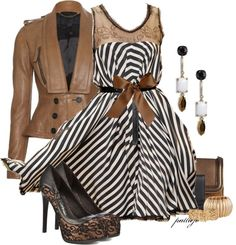 """Show Your Stripes"" by rockreborn on Polyvore"