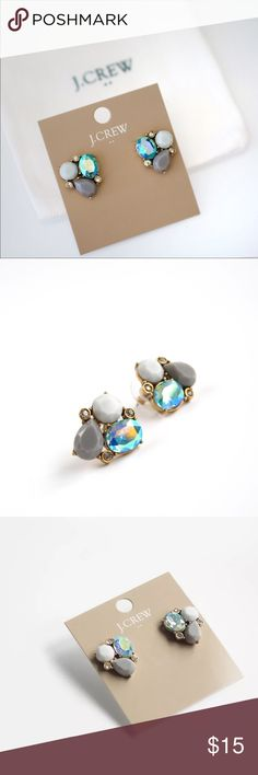 J. Crew Trio Crystal Stud Earrings Blue / Gray Brand new. Never worn. Super cute! Lovely color.  Dust pouch included  Price is firm.  10% discount is available when bundle 3 or more items.  Photos are taken of the actual product for sale! undefined Jewelry Earrings