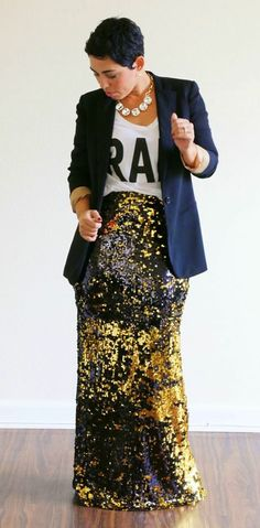 The skirt us the ONLY reason I pinned.. I like the blazer but NOT like this