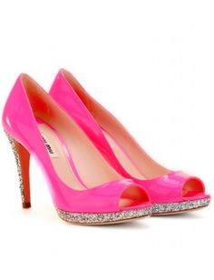 DIY Miu Miu glitter heels!