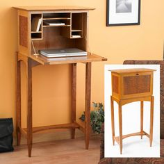 Wooden Drop Front Desk Plans DIY blueprints Drop front desk plans Roll top Desk Plan Eight side drawers Drop Front Writing Desk The secretary desk has been a popular piece of furniture since
