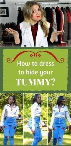 Outfits to hide your belly fat. Dress To Hide Belly Fat, Dresses To Hide Tummy, Curvy Outfits, Mom Outfits, Short Girl Fashion, 50 Fashion, Fashion Sewing, Mom Tummy, Capsule Wardrobe Women