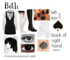 """black butler (Oc)"" by ironically-a-strider21 ❤ liked on Polyvore featuring mode, Topshop, Office et Alison Lou"