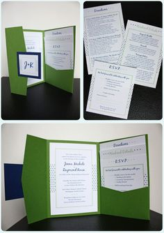 If I Decided to take on making my own invites... cute Idea