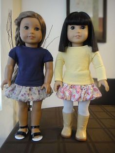 No Pattern Bubble Skirt   Free Sewing Pattern for American Girl Dolls