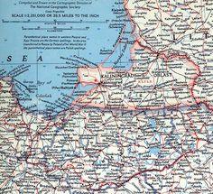 map of Ostpreussen post 1945