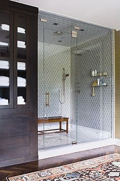 bathroom // storage and shower