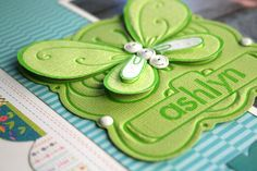 Cool 3D butterfly embellishment made by designer Tania Willis using the Fiskars Fuse Creativity System.
