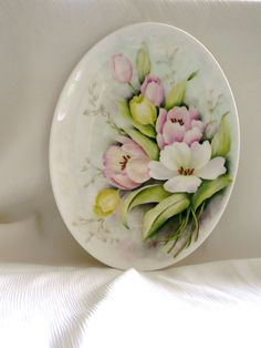 Hand painted oval bone china plate by variousstyles on Etsy, £35.00