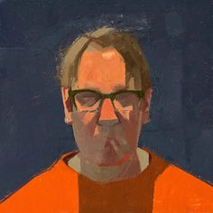 "CATHERINE KEHOE, ""SP Orange Shirt"", 2015, oil on panel 6x6"""