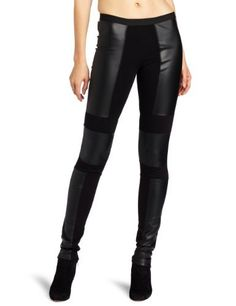 BCBGMAXAZRIA Women's Chase Pleather Blocked Legging, Black, X-Small BCBGMAXAZRIA. $138.00. Dry Clean Only. 60% Polyurethane/40% Polyester. Made in China. Mixed-media silhouette. Fitted