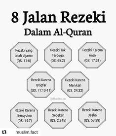 8 jalan rezeki dalam Al-Quran Promise Quotes, Pray Quotes, Allah Quotes, Muslim Quotes, Life Quotes, Hijrah Islam, Doa Islam, Reminder Quotes, Self Reminder