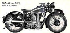 bsa 1939 m21 deluxe | M22 Two Port or 500 c.c. O.H.V. ditto twinport.