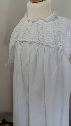 Vintage Christening or Baptism Gown for a by LilysVintageLinens