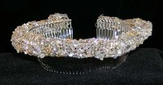 Beaded knitting: head bands - Would make a pretty replacement for a veil.