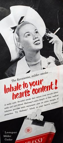 Well, not your ACTUAL heart. Vintage Advertisements, Vintage Ads, Anti Tabaco, Non Sequitur, More Photos, Advertising, Wellness, Golden Age, Fails