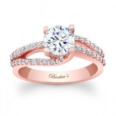 Rose Gold Engagement Ring - I am absolute IN LOVE with this. The rose gold is unique, but still simple, elegant and not too flashy, and I think it's very me.