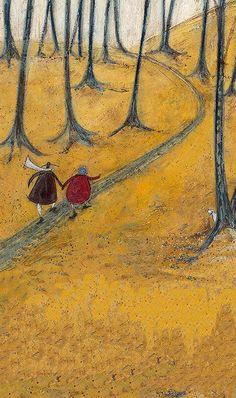 Sam Toft Staffordshire, A landlocked county in the West Midlands of England English Artists, Naive Art, Whimsical Art, Cute Illustration, Lovers Art, New Art, Illustrators, Folk Art, Art Drawings
