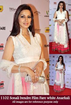 SONALI BENDRE WHITE ANARKALI DRESS - JustKartIt