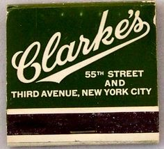 PJ Clarke's NYC #frontstriker #matchbook - To order your Business' own Branded #matchbooks or #matchboxes GoTo: www.GetMatches.com or CALL 800.605.7331 TODAY!