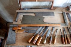 Saws, chisels and axes