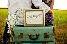 """May use this idea for """"Save the Date"""" photos - got the date & location, now for all the extras!!!"""