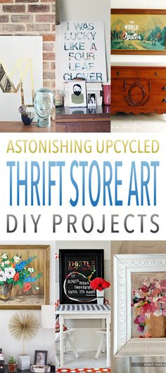 Astonishing Upcycled Thrift Store Art DIY Projects - The Cottage Market