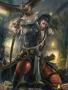 Artist: Yang Mansik aka yam8417 - Title: Unknown - Card: Rhys, Adrift Earl (Retaliation)