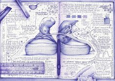 """""""i'm not out to convince you or draw upon your mind."""" All ballpoint! Wish I could draw like that; admire the shading."""