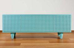 "Blue ""Face It"" Sideboard - made with DuPont™ Corian®, Design Stuart Melrose - 'Design Village'. #corian"