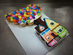 Disney Pixar's Up Cupcake Pull Apart Cake