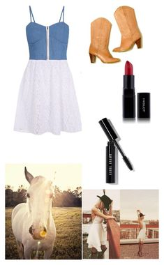 """""""Cowgirl"""" by jamzm ❤ liked on Polyvore featuring Madam Rage, Frye, Universal Lighting and Decor and Bobbi Brown Cosmetics"""
